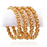 Best Bracelets For 4 - Chinar Jewels Traditional Ethnic Gold Plated Antique Look Review