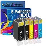 PlatinumSerie® 5 Druckerpatronen XL mit Chip für Canon PGI-525BK CLI-526BK CLI-526C CLI-526M CLI-526Y Z.B. für Canon Pixma IP 4850 IX 6550 MG 5250 MG 6150 MG 8150 MG 6250 MG 8240 MG 8250 MX 715 MX 895 MX 885 MG 5340 MG 5350 IP 4950 MG 5150