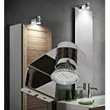 LED Aufbauleuchte Chrom / Art.7020 / Design Leuchte / Schrankleuchte / Spiegelleuchte