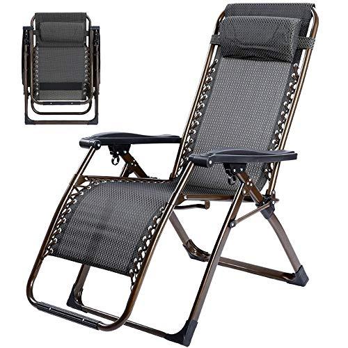 Hxx Schaukelstühle Lehnstühle Klappstuhl Mittagspause Klappsessel Outdoor Übergroße Schwerelosigkeit Lounge Chair Mit Kissen,A