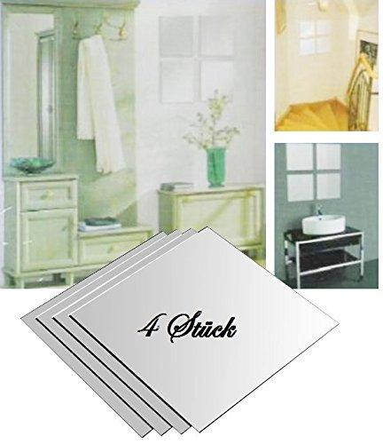 Spiegelfliesen Spiegelkachel Fliesenspiegel 20,5x20,5cm Wanddekoration Wandspiegel (4)