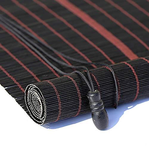 Tenda a rullo- tessuto per tende oscuranti, tenda a rullo in bambù sun shade, installazione a soffitto oa parete (tessuto naturale) (colore : flat curtain, dimensioni : 90x200cm)