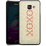 Samsung Galaxy A3 (2016) Housse Étui Protection Coque Bisou je t'aime Phrase Hugs Kisses Motif
