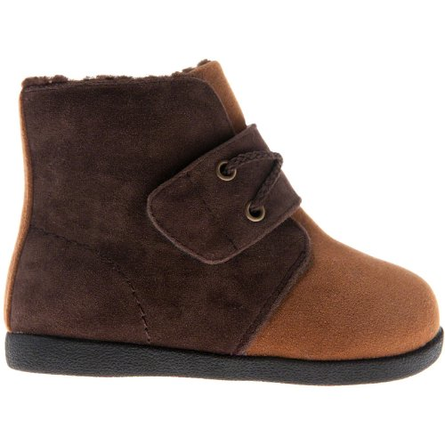 Little blue lamb chaussures bottes fourrées marron/beige Marron - Marron