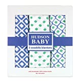 Hudson Baby Muslin Swaddle Blankets, Blue, 3 Count - Best Reviews Guide