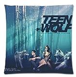 Stil, 45 x 45 cm werfen Kissenhüllen Teen Wolf Dark Forest, Dschungel-Design, Kissenhülle Zwei Seiten