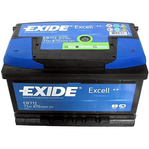 Exide EB712 EXCELL STARTERBATTERIE 12V 71AH 670A