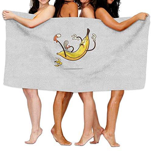 Super Peel (XCVNBX Beach Pool Custom Bath Towels Soft Comical Banana Stepping Banana Peel Super Absorbent Microfiber)