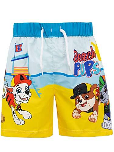 Paw patrol pantaloncini da bagno per ragazzi chase e marshall blu 4-5 anni