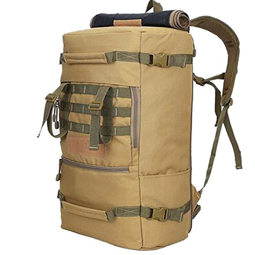Sport im Freien Bergsteigen Tasche 50L Rucksack Camping Trekking Rucksack Gepäck multifunktionale Paket Camo 1