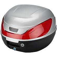 SATKIT Plata Universal baúl de moto scooter maleta 32 L motocicleta para 1 casco, portacasco mod-YM-0866P