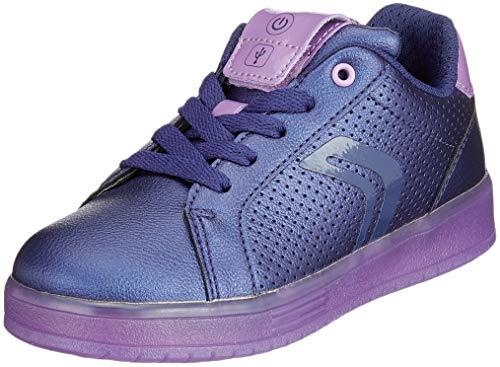 Geox j kommodor a a, scarpe da ginnastica basse bambina, blu (navy/violet c4267), 35 eu