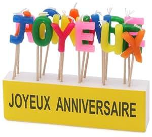 """Kim'Play - 621 - Décoration - Bougies texte """"Joyeux Anniversaire"""""""