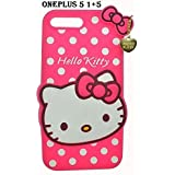 ONLINE INDIA 1+5 (one Plus Five) 3D Designer Hello Kitty Back Cover For One Plus Five (1+5) - Pink
