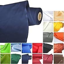 TOLKO Baumwoll-Stoff Meterware, der leichte Klassiker zum Nähen, reine Baumwolle mit Oeko-Tex® Standard 100 (Marine-Blau)
