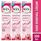 Veet Hair Removal Cream For Normal Skin, 100 GM (Buy 2 Get 1 Free)
