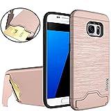 Nakeey Schutzhülle Samsung Galaxy S7 Hülle, Galaxy S7 Hülle Slim [Card Slot] Hybrid Dual Layer Bumper Schutzhülle Ha