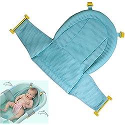 Siège de bain bébé tapis de bain La baignoire antidérapante réglable de douche de bébé s'assoient la maille pour le nouveau-né