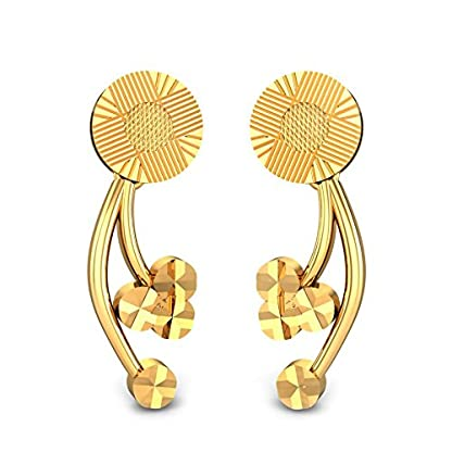 Candere By Kalyan Jewellers 22k (916) Yellow Gold Panita Stud Earrings
