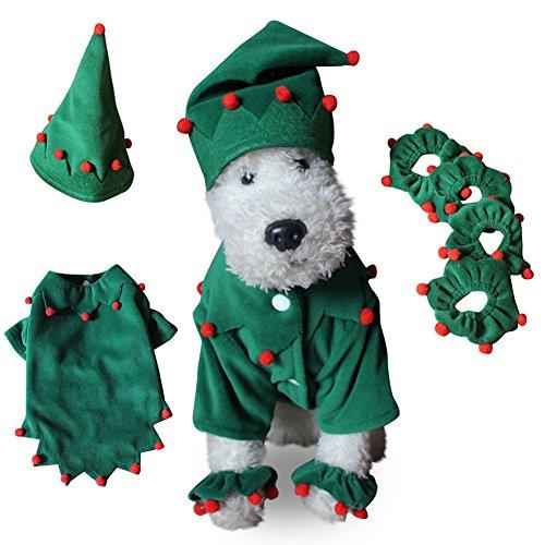 Pet Mantel dexinghaoye Haustier Kostüm Hund Weihnachten Halloween Elf Style Pom Pom Decor Kleidung Bekleidung–sdz05christmas Set