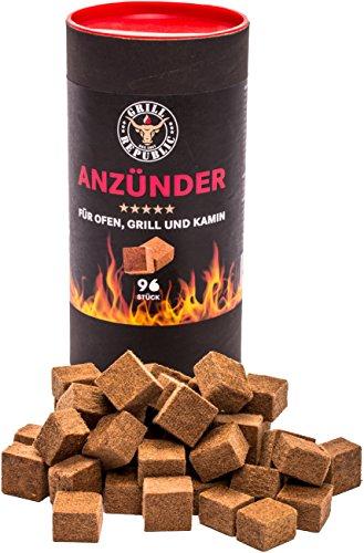 Ofenanzünder | Kaminanzünder | Grillanzünder | Ökologische Anzünder aus Holz und Wachs mit extra langer Brenndauer | Geruchlos und umweltfreundlich