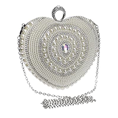 Women Pearls One Shoulder Crossbody Evening Bag Dress Accessories Evening Bag Banquet Clutch - clutches