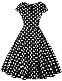 Dissa M1328 DamenRockabilly 50er Vintage Retro Kleid Partykleider Cocktailkleider