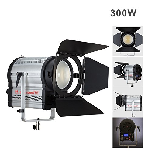Falconeyes CLL-3000TDX 300W LEDs Spotlight CRI 95+ with LCD&Touch Panel DMX512 System 3000K-8000K Color Stepless Adjustable For Professional Filming and Broadcasting Use