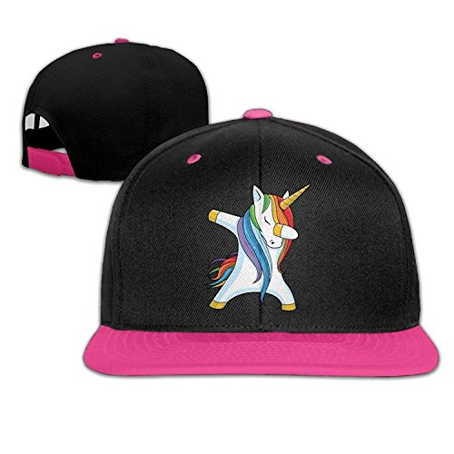 Unisex Fashion Dabbing Unicorn Hip Hop Baseball Caps Snapback Hats Pink