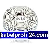 Mantelleitung NYM-J 5x1,5mm² -25m Ring- NYMJ