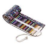 mylifeunit farbigen Bleistifte Wrap, Leinwand Buntstifte, HOLDER Organizer mit 108Slots (Bleistifte sind nicht im Lieferumfang enthalten) 72 Slots mehrfarbig