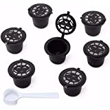 Tradico® 8Pcs Set Refillable Reusable Coffee Capsules Pod Reusable Refilling Filter For Nespresso Machine One Piece