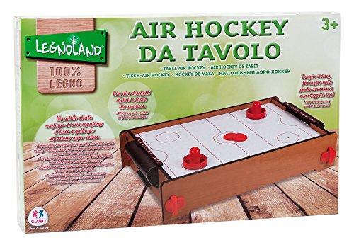Globo Toys Globo–3720451x 31x 10,5cm legnoland Holz Air Hockey Spiel mit Druck