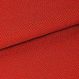Zick-Zack Die Stoffidee 0,5m Baumwolle Mini-Punkte Rot 100%