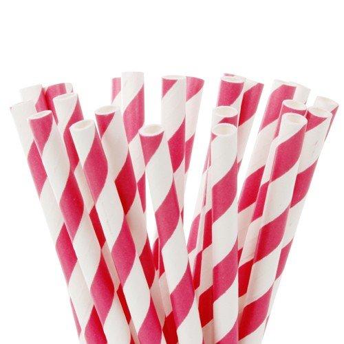 (Cake Pops - Fuchsia Pink & Weiß Lollipop Sticks 15 cm - 20 Stück)