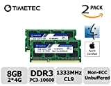 Timetec Hynix IC Apple 8GB Kit (2x4GB) DDR3 1333MHz PC3-10600 SODIMM Memory Upgrade For MacBook Pro 13/15/17 inch Early/