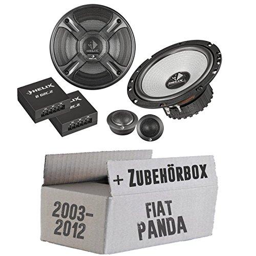 Helix - B 62C.2-16cm 2-Wege Lautsprecher System - Einbauset für FIAT Panda 169 Heck - JUST SOUND best choice for caraudio