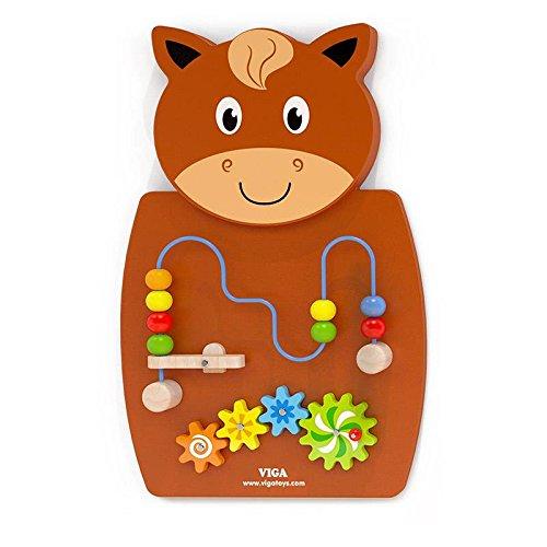 Viga Pferd Wand Spielzeug - Wire Beads & Gears (Baby Gear-marke)