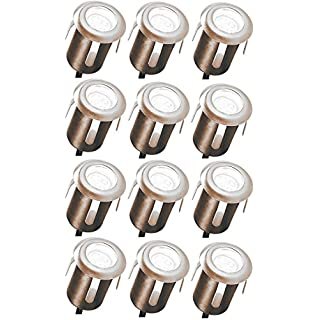 12 x LED Einbaustrahler, Steckerfertig verkabelt und vormontiert für Decke Boden Wand und Terasse