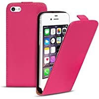 iPhone 4, 4S Flip Case, Klapphülle Pink, PU Leather Case, Premium Handy Schutz Hülle aus PU Leder iPhone 4, 4S (3,5 Zoll (8,9 cm)