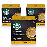 STARBUCKS Blonde Espresso Roast by NESCAFÉ Dolce Gusto Coffee (3X12 Capsules)