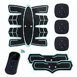LINANNAV Stimolatore Muscolare Addominale del massaggiatore dell'attrezzatura di Forma Fisica del massaggiatore Addominale telecomandato Intelligente (Colore : Multi-Colored)