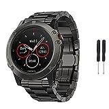 Garmin Fenix 5X reloj banda, Topten titanio correa de muñeca banda pulsera de repuesto para Garmin Fenix 5X reloj inteligente