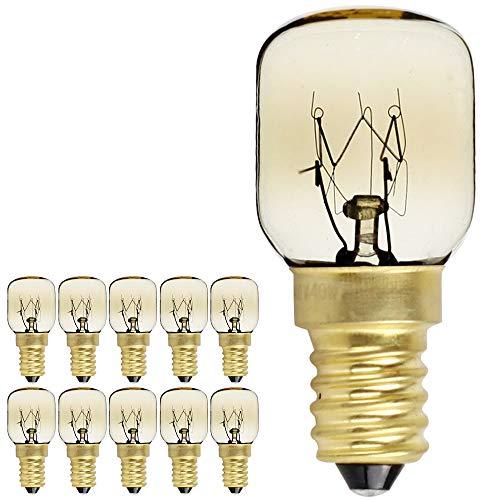 Pack de 10 bombillas de rosca SES E14, 300 grados, para microondas...