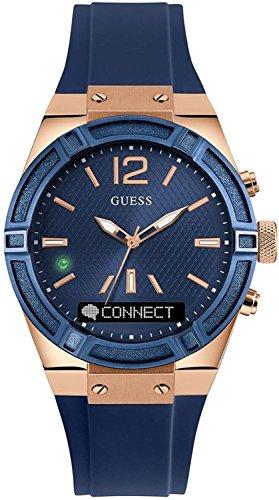 Guess Connect Reloj para Unisex Analógico/Digital de Cuarzo con Brazalete de Goma C0002M1