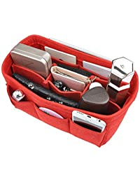 Ecolife Quality Products Women's Handbag Tidy Organizer, Liner Felt, Travel Cosmetic Bag Insert 12 Pockets (Color...