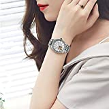 Lnyy Par Resistente al Agua manipulador Reloj Las Mujeres de Cristal japonés mecánica Movimiento Zafiro Reloj mecánico
