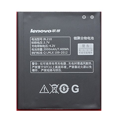 Isoelite Battery Compatible For Lenovo A656, A658T, A750E, A766, A770E, S650, S658T,S820,(BL210) 2000mAh Battery  available at amazon for Rs.899