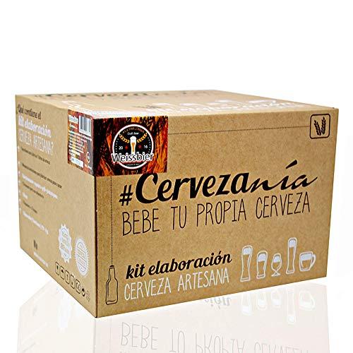 #Cervezanía - Kit de elaboración de cerveza Weissbier trigo. Elabora 5 litros de cerveza de trigo en casa, estilo alemán