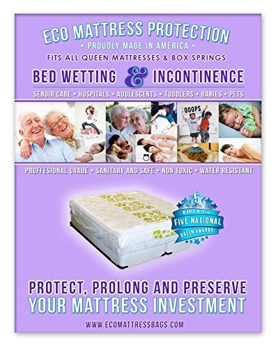 Spring Box King (1 Queen or Full Size Mattress Protector Designed for Bed Wetting, Accidents and Incontinence. Fits All Cal King and King Size Mattresses and Compatible with All Pillow Tops and Box Springs. Winner of 5 National Green Awards in 2014. Don't Stress About Your Mattress, We've Got You Covered! by Zero Waste Moving)